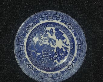 3 Dinner Plates- 9 inch Allertons Blue Willow : 9 inch dinner plate - pezcame.com