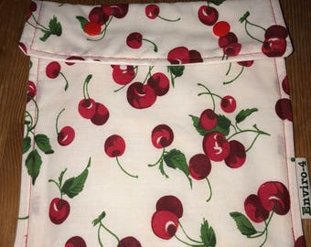Cherry pattern sandwich bag