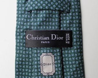 Tie Christian Dior pattern Leaf