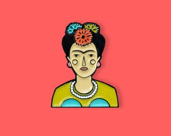 Frida Enamel Pin, Frida Brooch