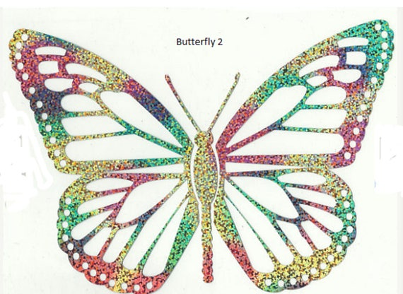 rainbow multi color butterfly htvd heat transfer vinyl design iron on from jingabstore on etsy studio - Color Butterfly 2