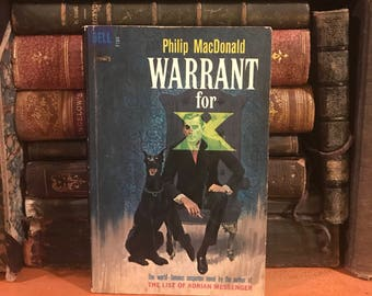Warrant For X by Phillip MacDonald Vintage Paperback Book Thriller Mystery Rare Hard to Find