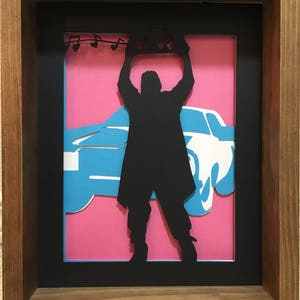 Say Anything - Lloyd Dobler - Papercut - Diorama