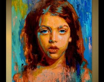 Custom Portrait Oil Canvas Painting Child Portrait Family Portrait Wedding Portrait Abstract Portrait Original Painting Palette Knife
