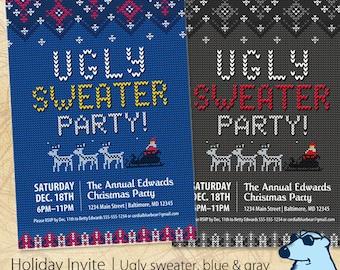 Ugly Sweater / Christmas Party Invitation / Digital Printable Invitation / Custom / 1 Sided