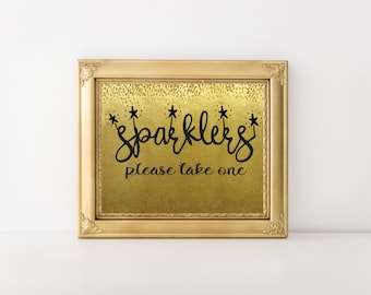 Sparklers Please Take One New Year's Printable Wall Art