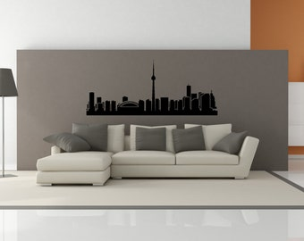 PREMIUM Toronto Ontario Canada City Skyline Interior Wall Decal WITHOUT Lettering