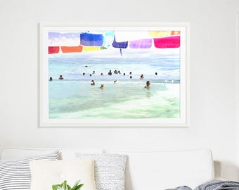 "Abstract Art Photography // ""Things we do for love"" // Beach Photography // Rainbow Print // Beach People California // Beach Collage V"