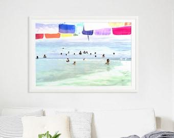 Abstrait Art Photography / / «Choses que nous faisons pour l'amour» / / photographie plage / arc en ciel Print / / Beach en Californie les gens / / plage Collage V