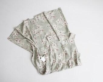 robe à fleurs sauge | 90 s floral robe | floral Robe maxi