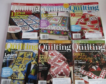 6 Fon's & Porter's Love of Quiltiing Magazine, 2010 back issues