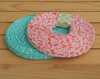 """Cotton and steel Snap to grid 1/2"""" double fold bias tape binding, 3yd rolls, all sizes available by request"""