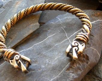 Viking Dragon bracelet  twisted Wolf Arm band  Vikings Scandinavia Man wristband  Arm ring Gotland. Sweden. replica.Ragnar Lodbrock Vikings
