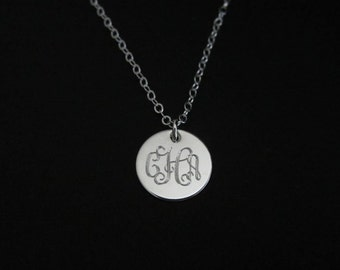 Monogrammed Necklace. Minimal Necklace. Delicate Personalized Jewelry. Layering Necklace. Gift for Her. Bridesmaid Jewelry. Friendship Gift.
