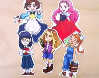 Harvest Moon Mineral Town Girls Sticker Set