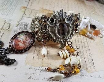 Through the Keyhole Assemblage Bracelet