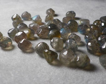 Labradorite Faceted Onion Briolette Beads 5mm - 7mm