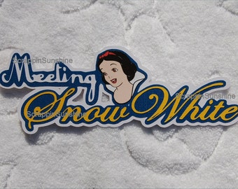 DISNEY Meeting Snow White - Die Cut Title Scrapbook Page Paper Piece - SSFF