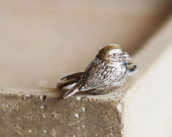 PETITE FILLE Handmade Jewelry mini collection Sparrow Sterling Silver Ring
