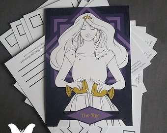 Double Sided Star Tarot Themed Postcards - Set Of 5