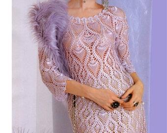 Crochet Dress   custom made, hand made, crochet - 100% viscose.