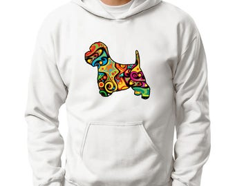 Psychedelic West Highland White Terrier Hoodie