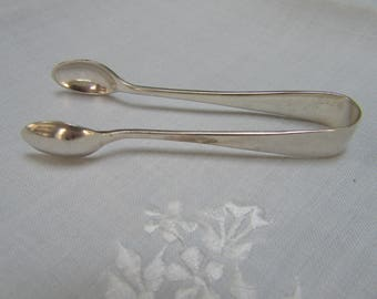 Silver Plate Sugar Tongs - from England