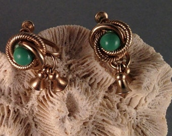 Vintage Turquoise and Gold Screw on Earrings 3/4 Inches Long and 1/2 Inch Wide Previously Twenty Dollars ON SALE