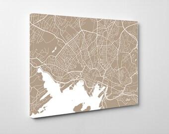 Oslo Street Map Print Map of Oslo City Street Map Oslo Poster Wall Art 7107L