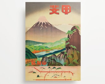 Vintage Travel Poster Japan 1930s Giclée Print
