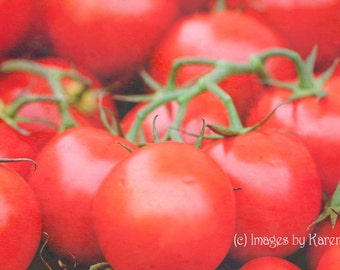 Food Photography, Vegetable Photography - Vine Ripe Tomatoes