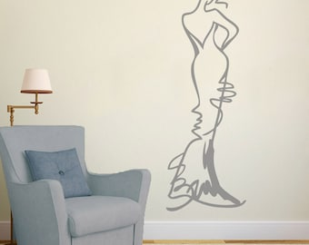 Fashion Model Sketch Vinyl Wall Art