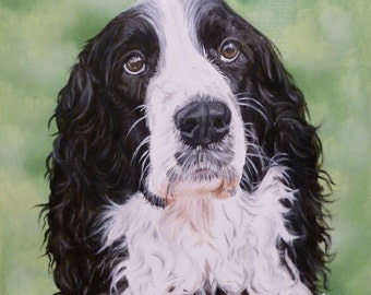 """Custom Pet Portrait 6""""x6"""", Oil on Gessobord from your photo by Cynthia Brassfield"""