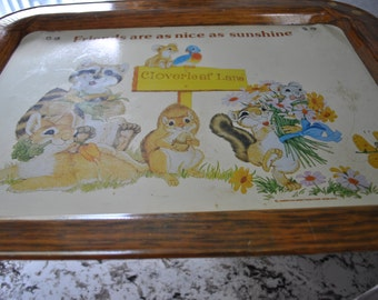 """Vintage """"Best Friends"""" Bed Tray"""