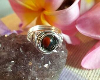 Sterling Bloodstone Rings