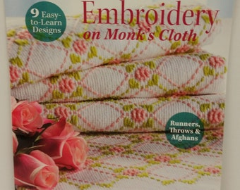 Learn Huck Embroidery on Monk's Cloth (Runners, Throws, Afghans) by Trice Boerens Published by Annie's in 2014
