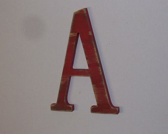 12-inch Distressed Wood Letter A Wall Hanging Monogram Initial