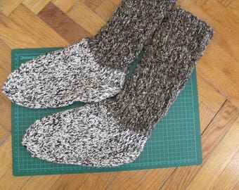 Knitted woolen sock