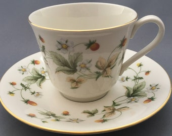 Royal Doulton Strawberry Cream Tea Cup and Saucer