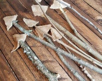 Rustic Branch Arrows