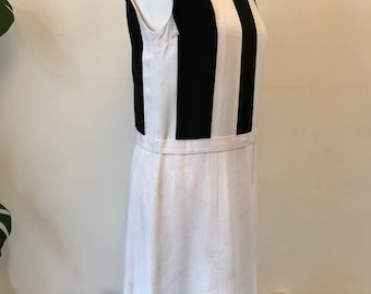 1960's mod, shift dress, black and white size uk 14