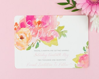 Floral Save the Date - Rose Bloom