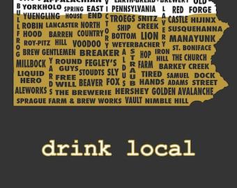 Drink Local- Pennsylvania Beer T-shirt