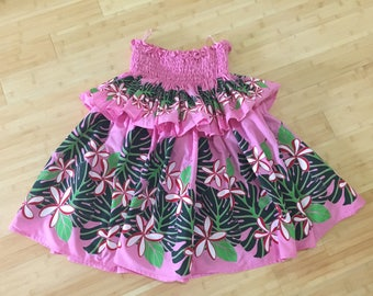 Hawaiian Hula Pa'u skirt pink