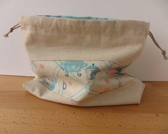 Vintage Kitchen Drawstring Project Bag
