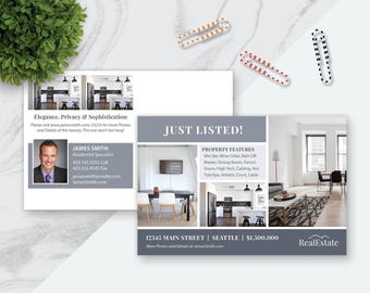 PHOTOSHOP Real Estate Postcard Template Real Estate Marketing - Real estate marketing package template