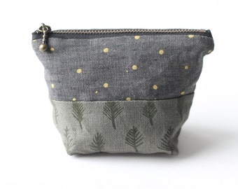 Trees & Stars Coin Pouch. Change Purse. Small Pouch. Zipper Pouch. Card Holder.