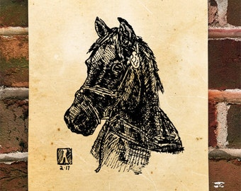 Custom Hand Drawn Pen & Ink Sketch Of Animal or Pet