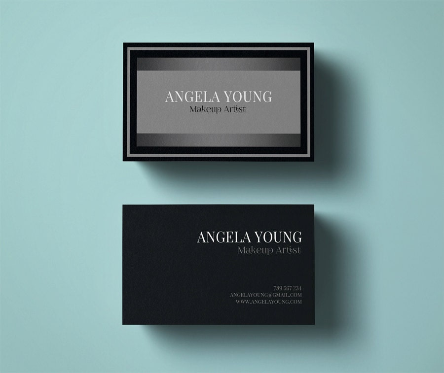 Makeup Artist business card template modern business card