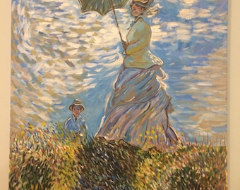 Women with a Parasol - by Claide Monet - Art reproduction
